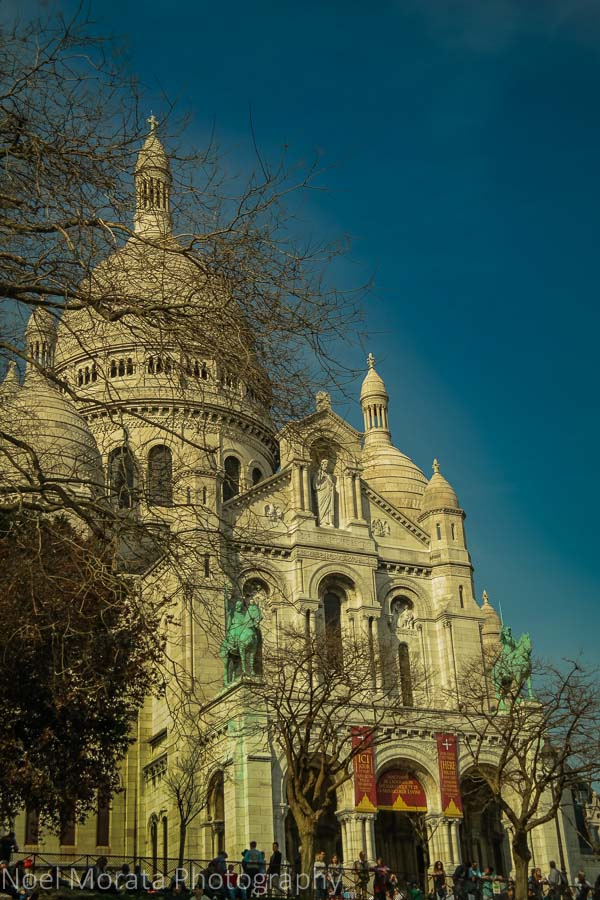 The exterior of Sacre Coeur