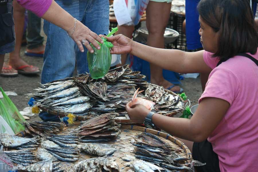 Seafood vendor at Mactan public market in Cebu