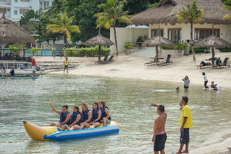Banana boat at the Maribago resort