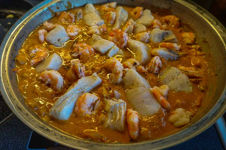Traditional cataplana dish in Portugal