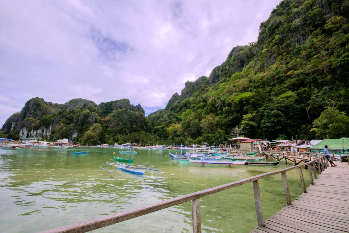 El Nido town proper as seen from Cabigsing/Sitio Tandul