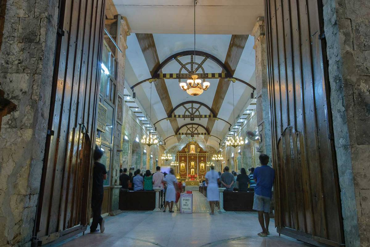 Mass at the Church of St. Peter and Paul Bantayan Island