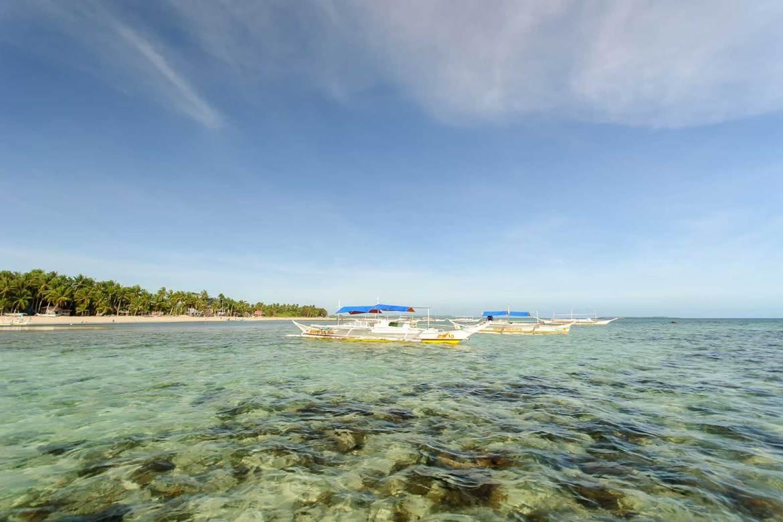 Bancas in anchor, Bantayan Island