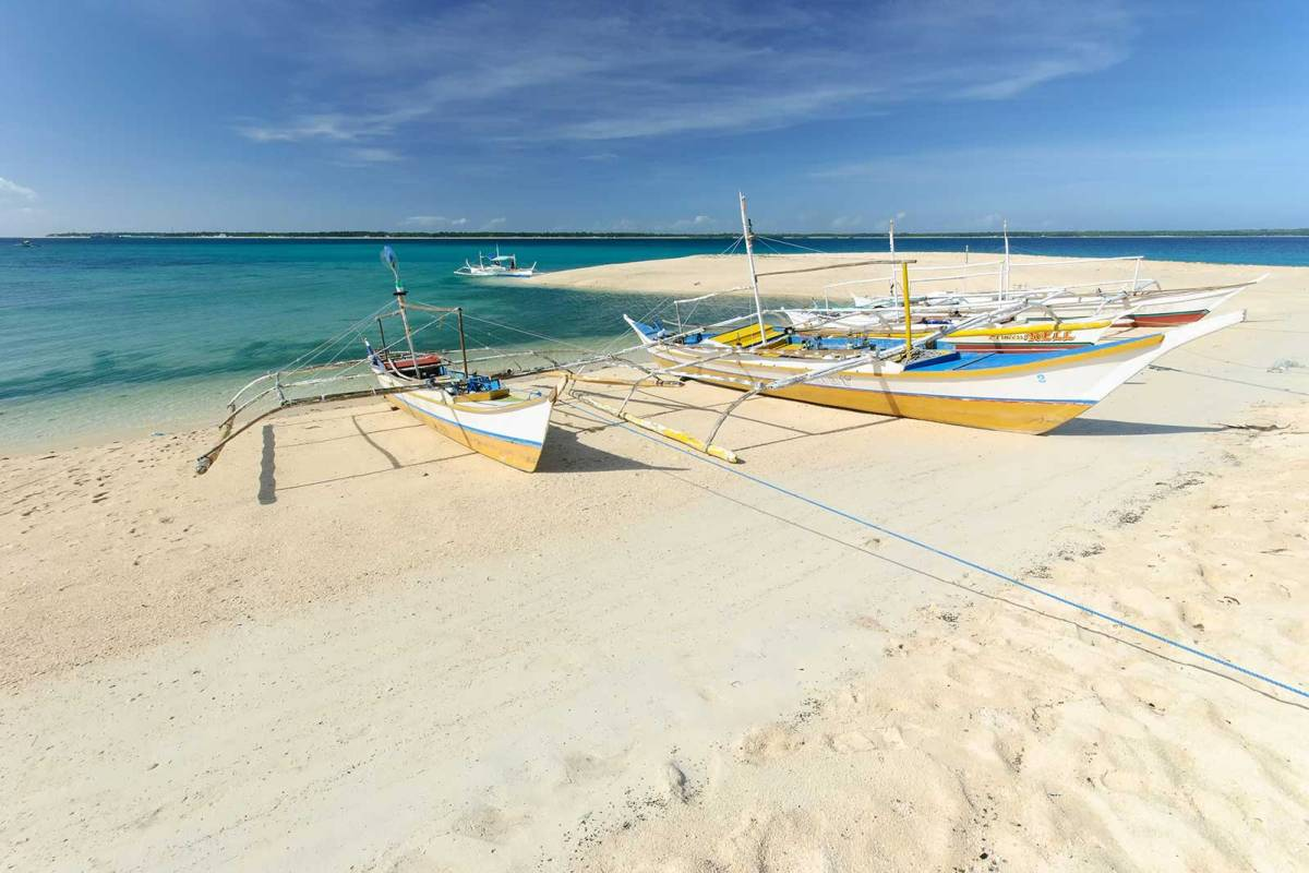 Hilantagaan Island's southwestern corner's spit of sand, Bantayan Island