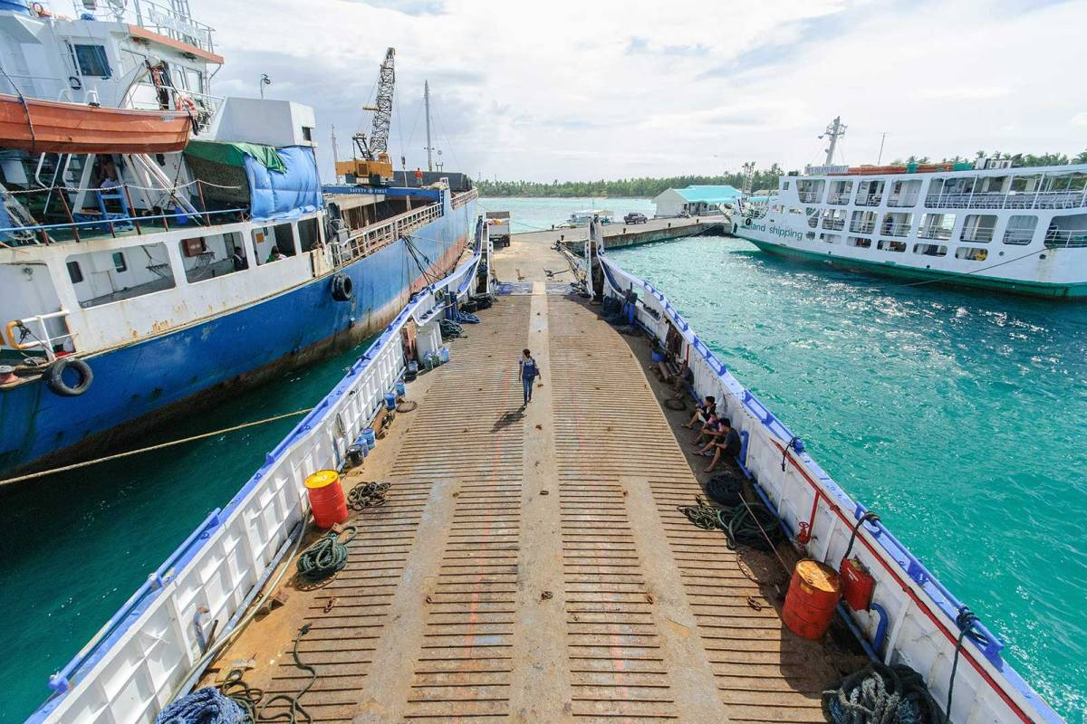 The port of Santa Fe, Bantayan Island