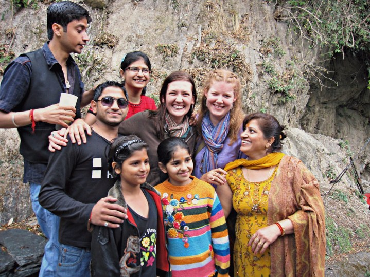 Pleasantly accosted by an Indian Family on my way to a lake in Rajasthan.