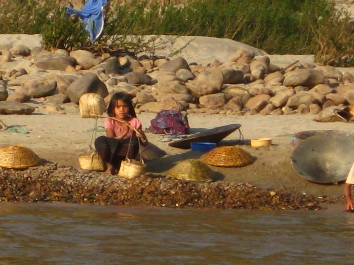 Child on the Mekong River, Laos