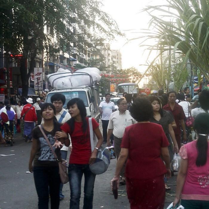 Chinatown in Yangon, Burma (Myanmar)