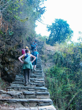 Hiking in the Himalayas to Poon Hill