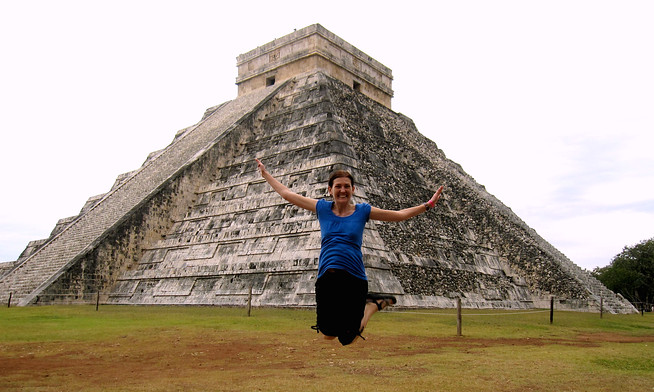 Jumping Shot at Chichen Itza