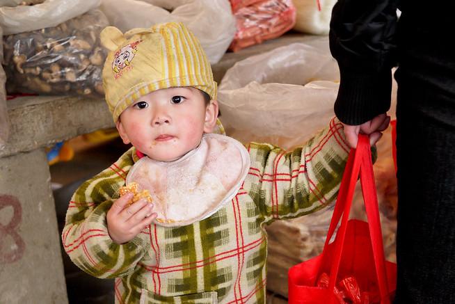 Young boy, Fuli Market China