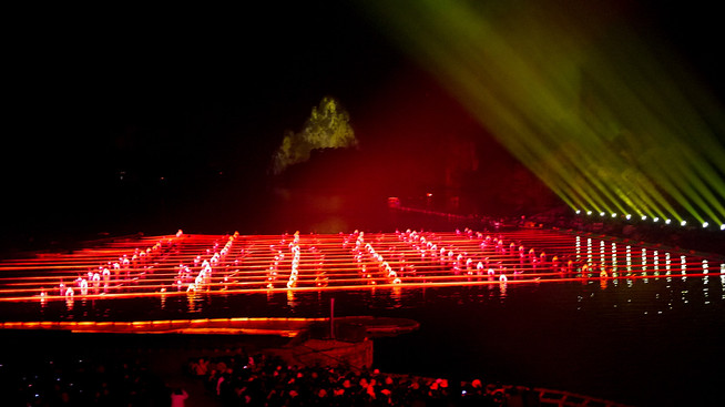 Impression light show in Yangshuo