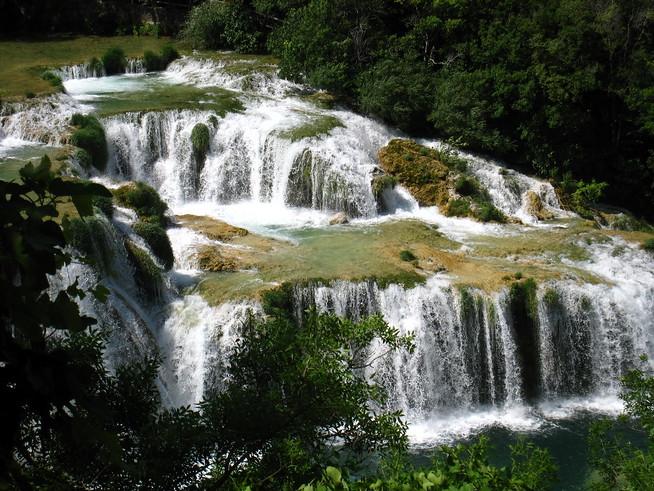 Waterfalls at Skradinski Buk, Krka, Croatia