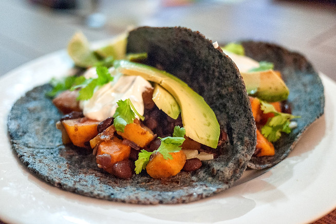 Simple sweet potato and black bean taco recipe