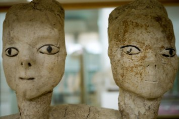 Pottery and art from ancient Rome are found at Amman Citadel, Jordan