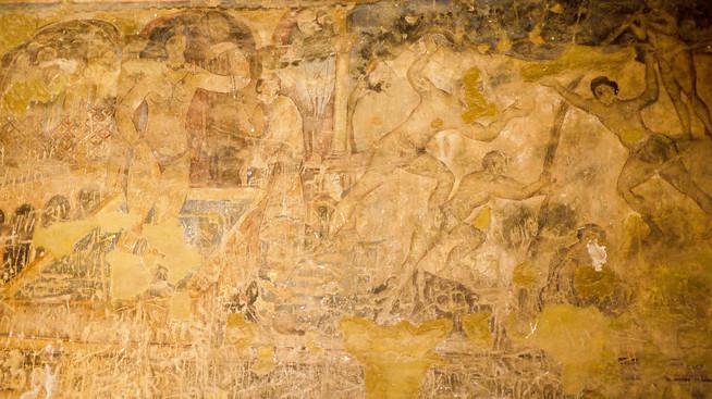 Quseir Amra's gorgeous and detailed fresco.