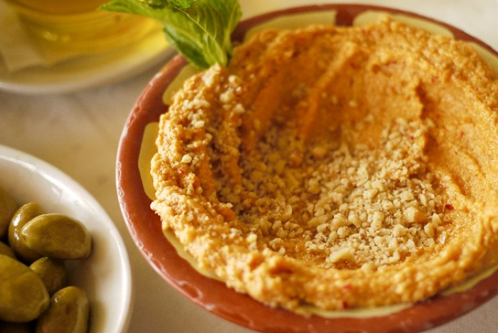 Muhammara:A spicy chili dish in Jordan