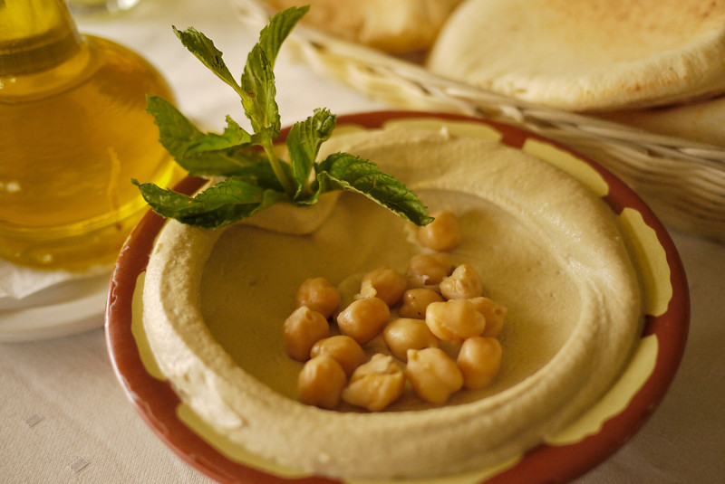 Vegetarian food guide to the middle east closeup of hummus dip as a jordanian mezze to start the meal forumfinder Image collections