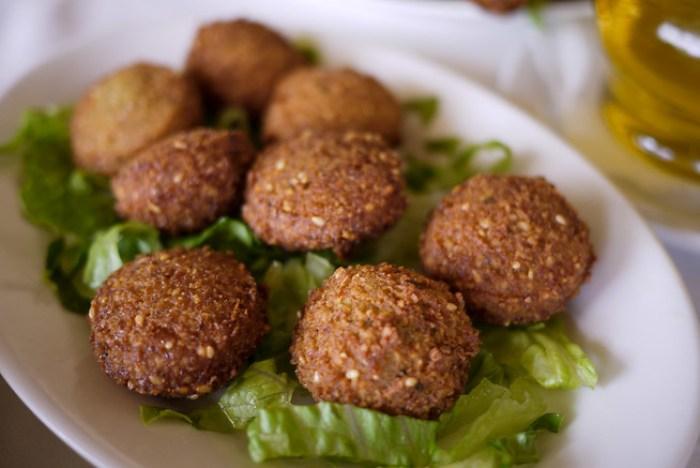 Falafel balls from Jordan vegetarian cuisine