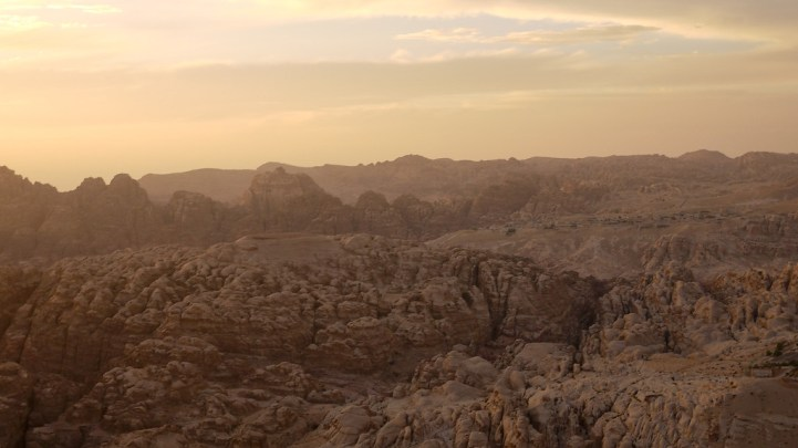 History in Petra Valley from Wadi Musa
