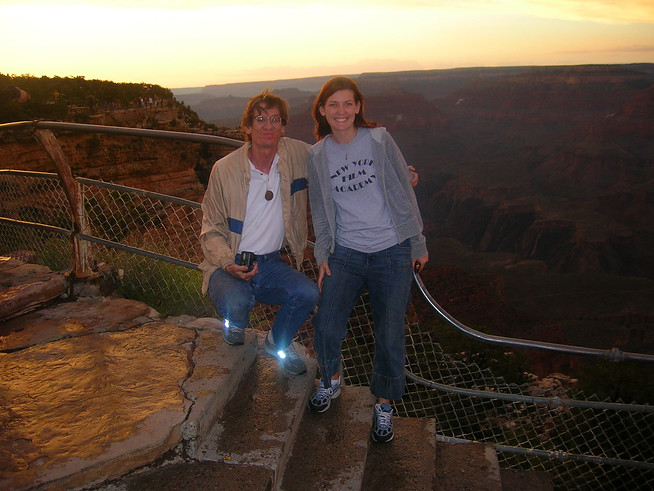 grand canyon with dad