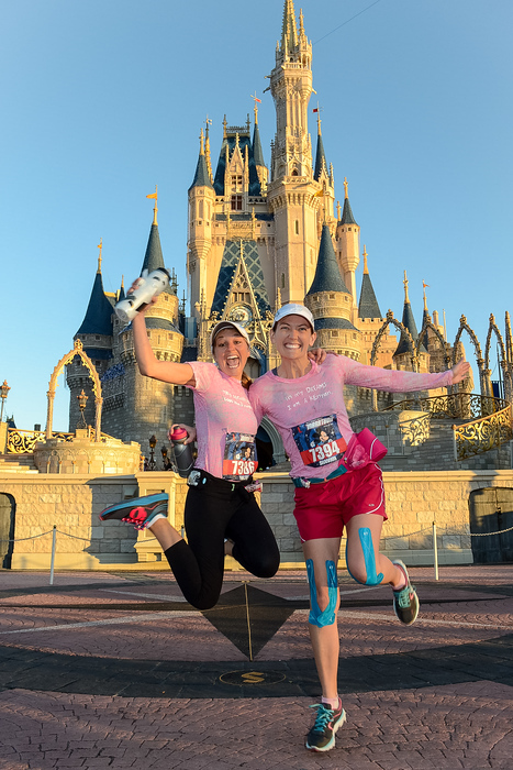 cinderella's castle during our marathon