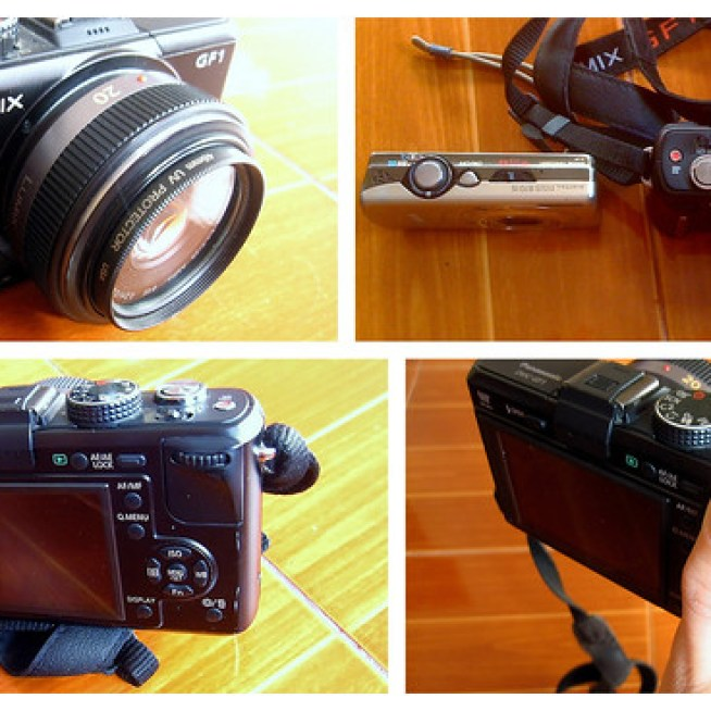 My Panasonic GF1 with a 20mm aspherical pancake lens.