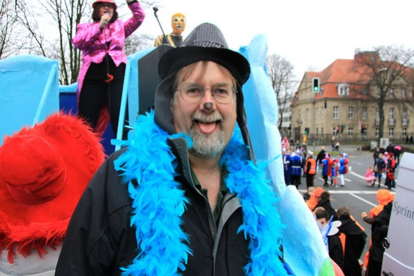 Chris at Carnival in Dusseldorf