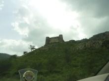 Ajabgarh fort from car window