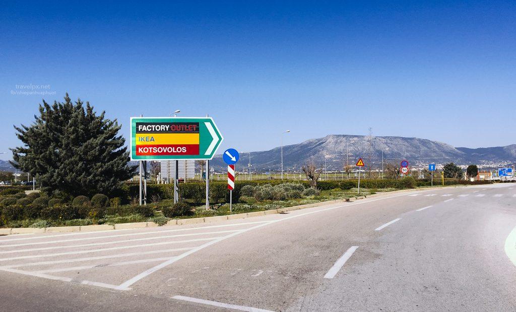 Đường từ sân bay Athens vào thành phố