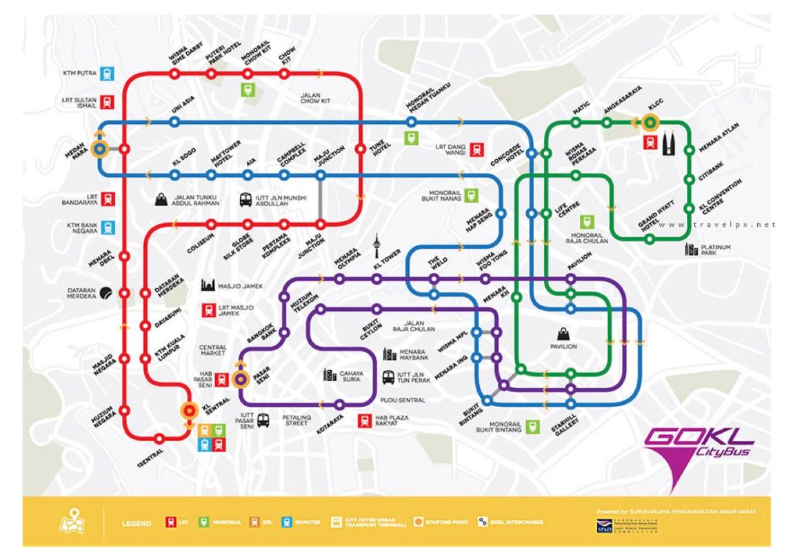 Free-bus-map---Kuala-Lumpur