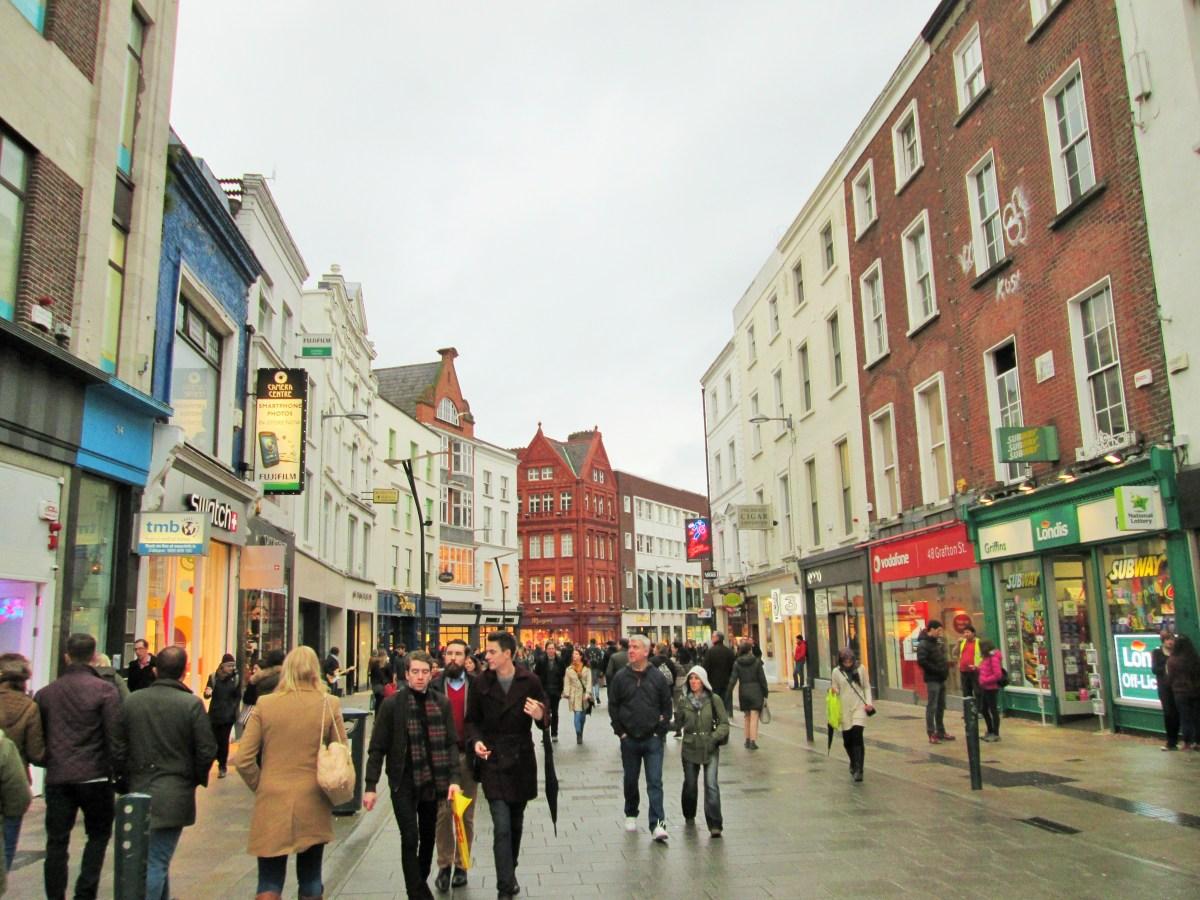 Às compras em Dublin