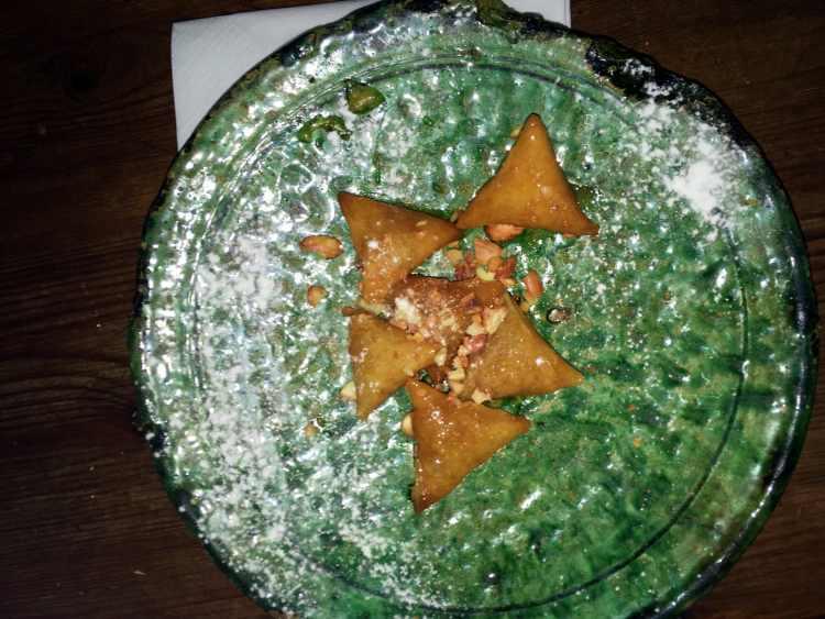 Briouette doces Pratos Marroquinos