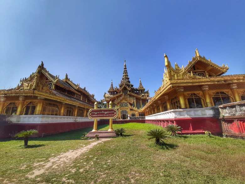 Bago cidade de lendas Palácio Kanbawzathadi