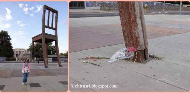 The Broken Chair - A symbol of peace in Geneva, Switzerland