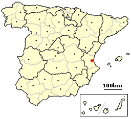 Valencia on map