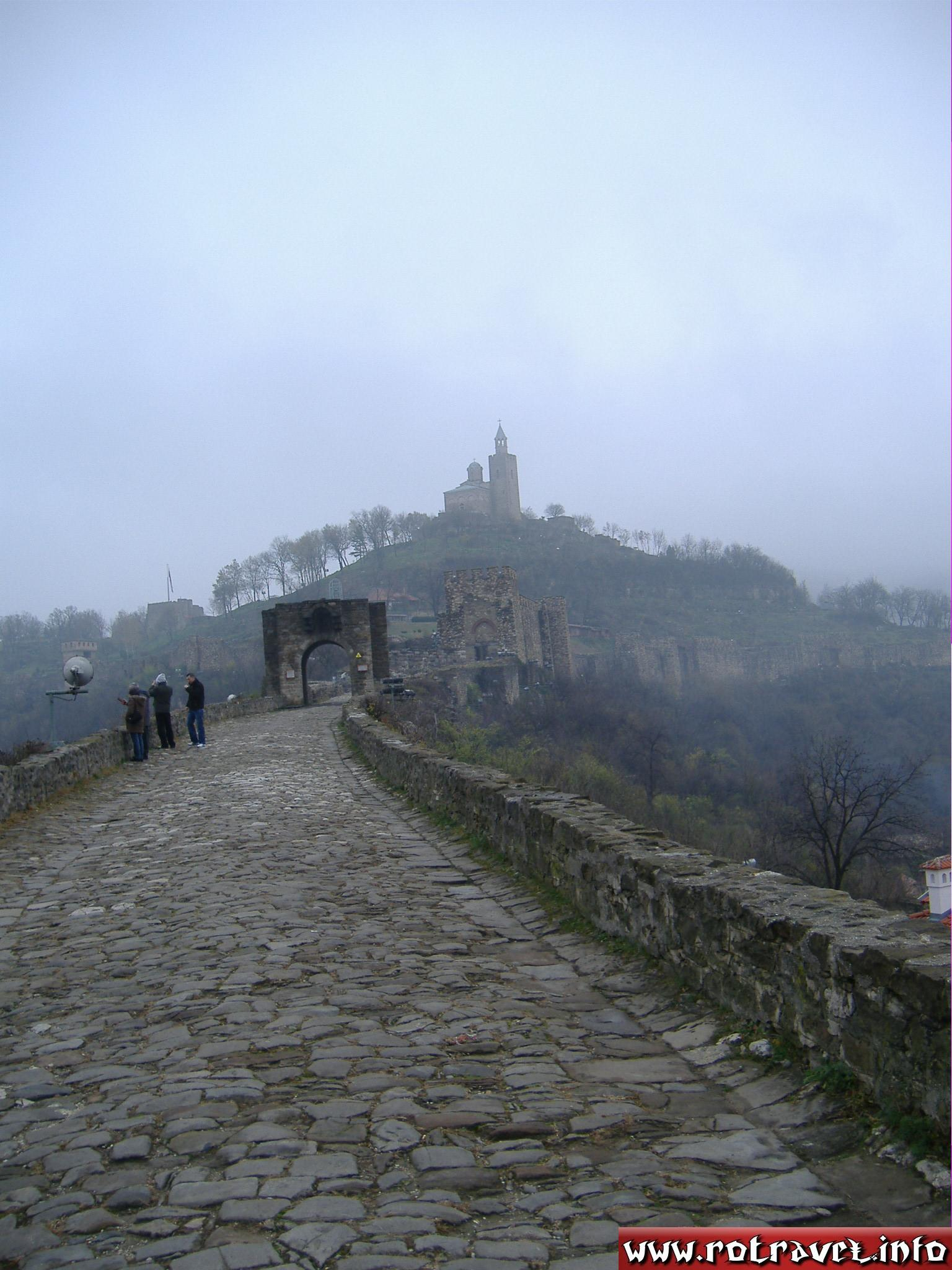 The entrance to Tsarevets