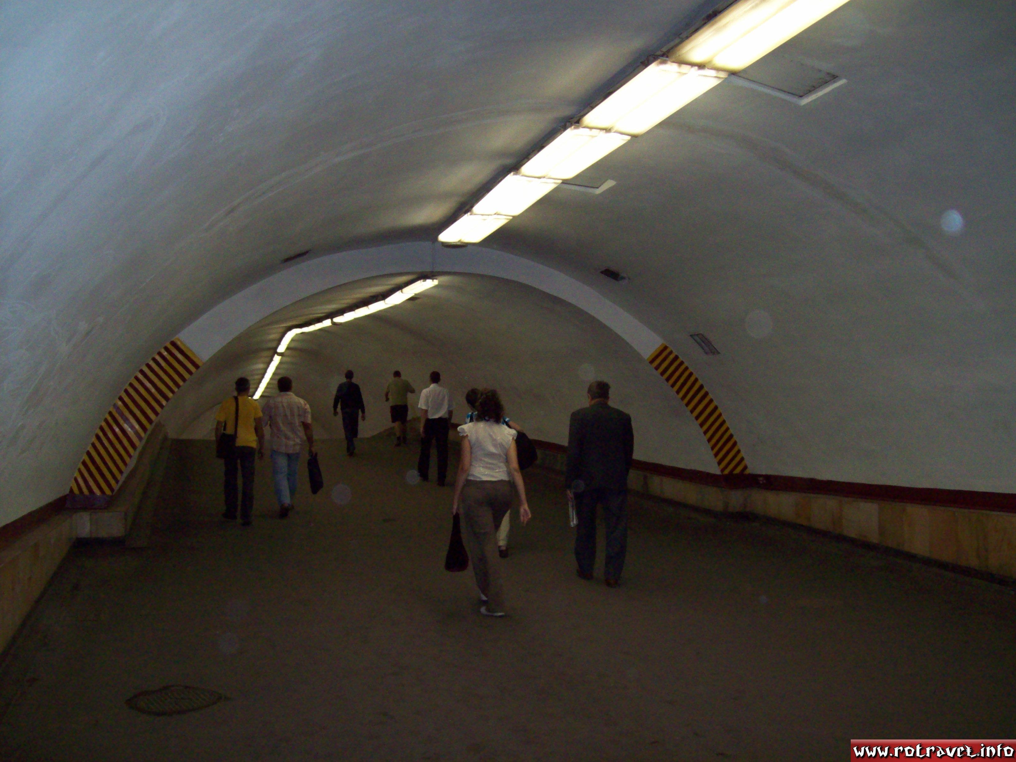 A subway tunnel of Kiev Metro