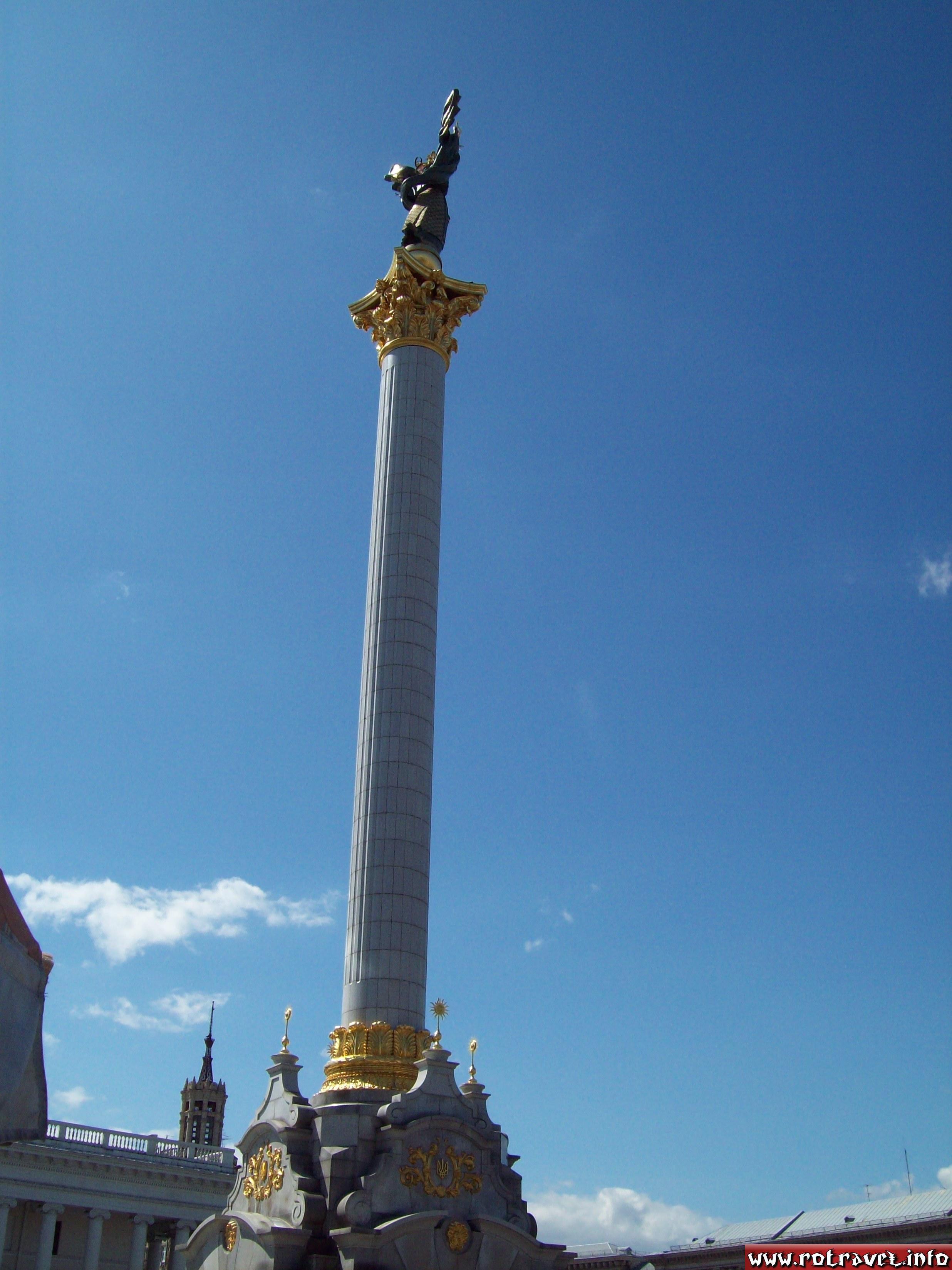 "The monument of Berehynia from Independence Square ""Maidan Nezalezhnosti"" (Ukrainian: Майдан Незалежності"