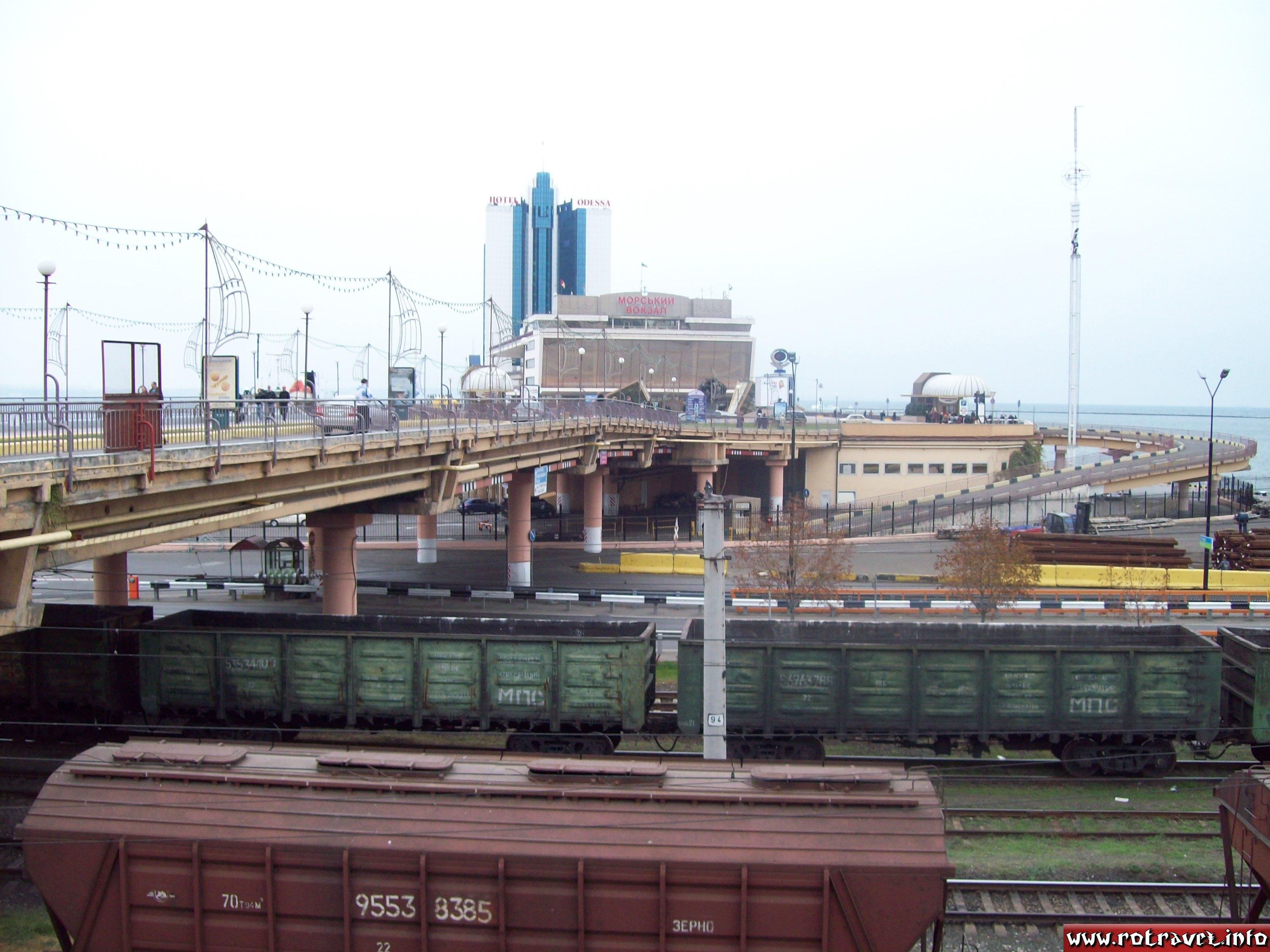 Trains near to the Odessa Harbour
