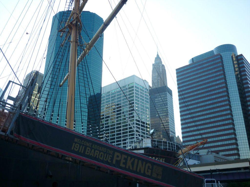 Historisches Schiff Peking am Pier 17 New York
