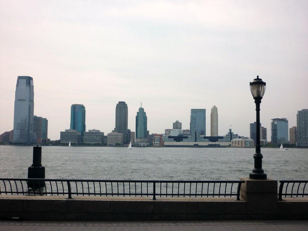 Blick auf New Jersey New York