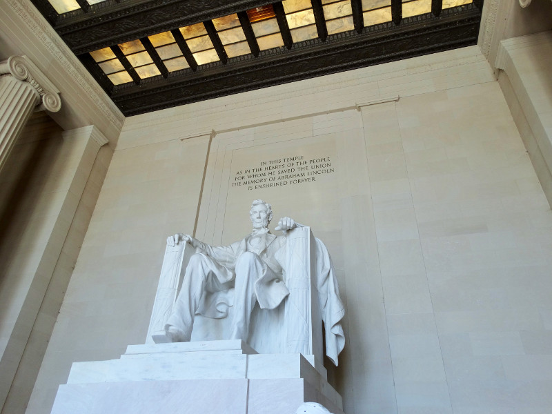Statue von Abraham Lincoln Washington DC