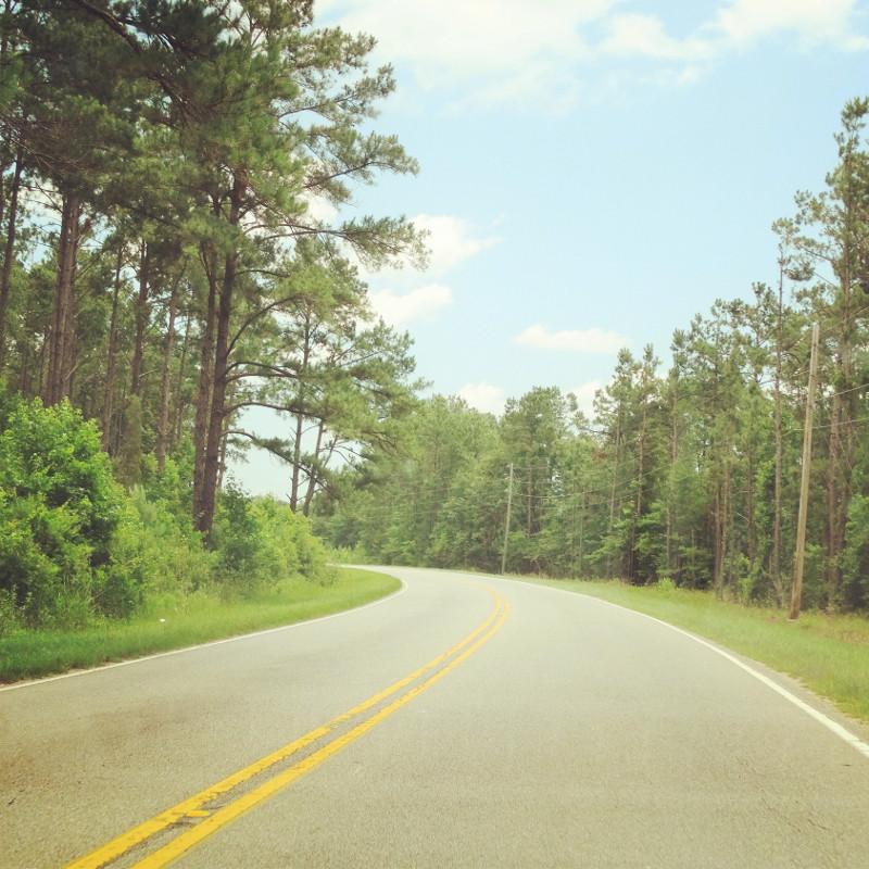 Straßenverlauf in South Carolina USA Roadtrip