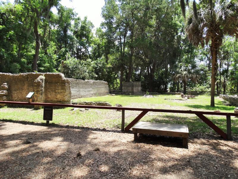 Ruinen des Kolonialanwesens Wormsloe Historic Site