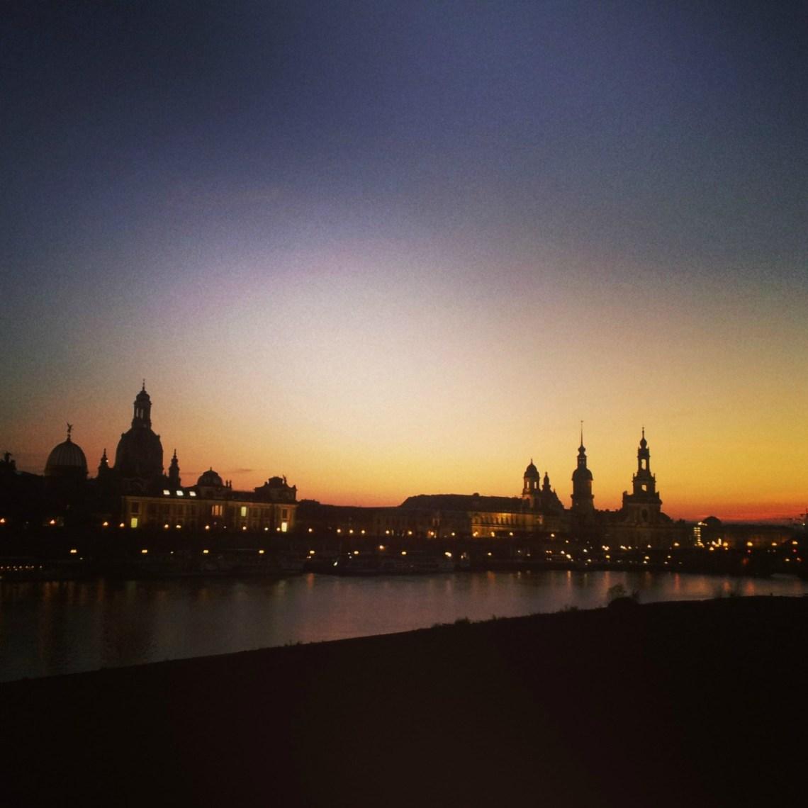 Sonnenuntergang Dresden Instagram