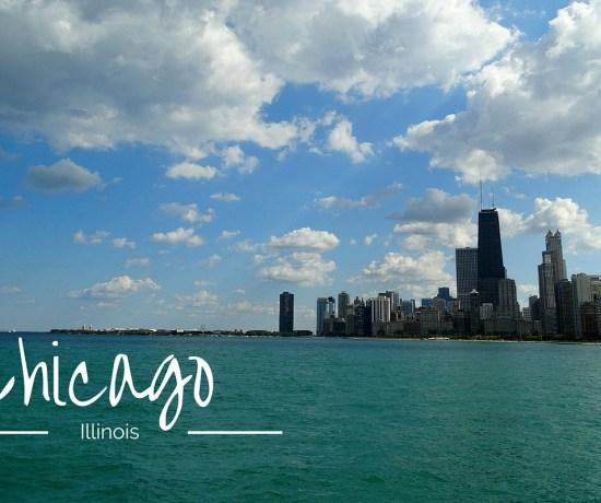 Chicago Skyline mit Lake Michigan