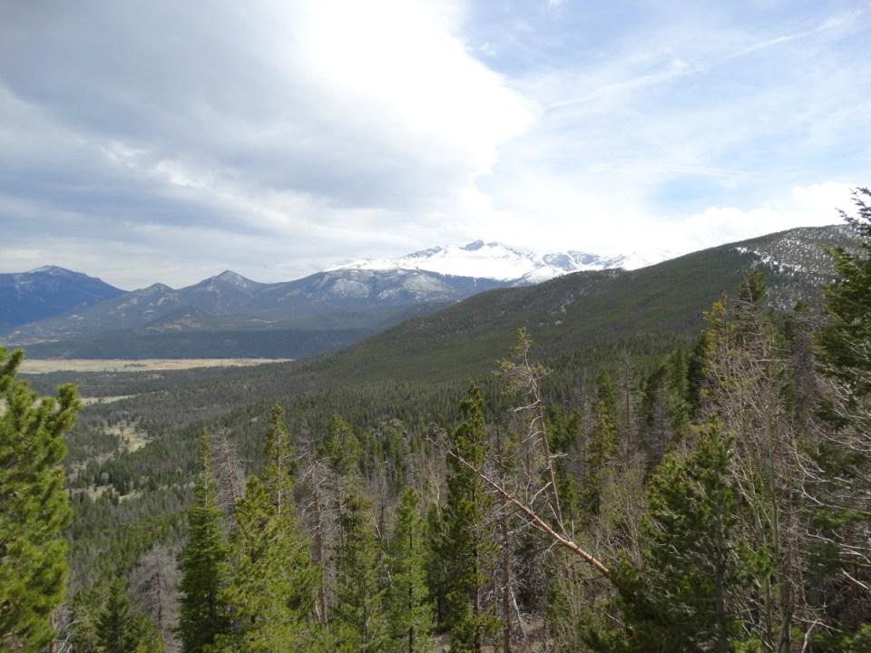 Blick auf die Rockie Mountains