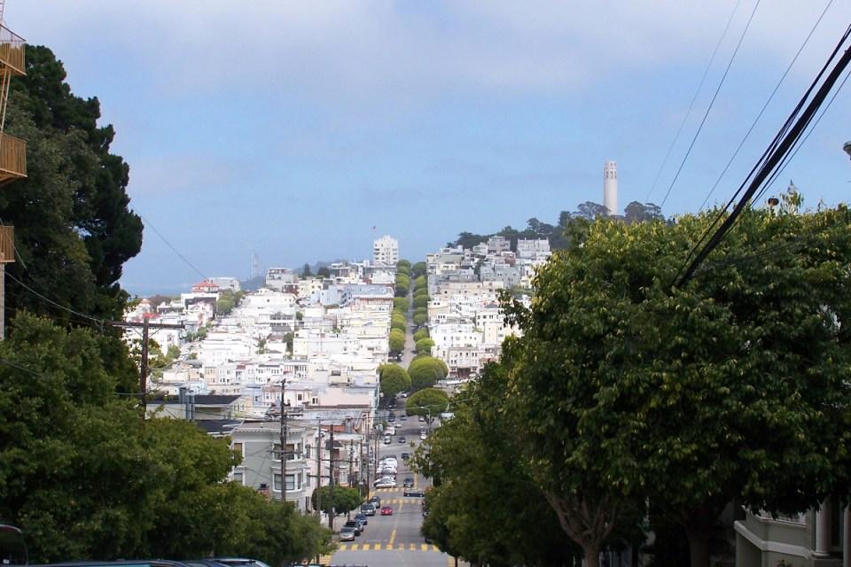 Blick von der Lombard Street