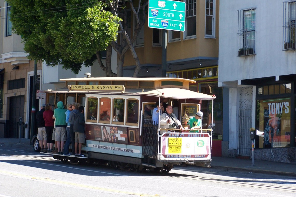 Cable car in SF
